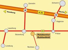 Holzkontor Kuhlenfeld:, Anfahrt