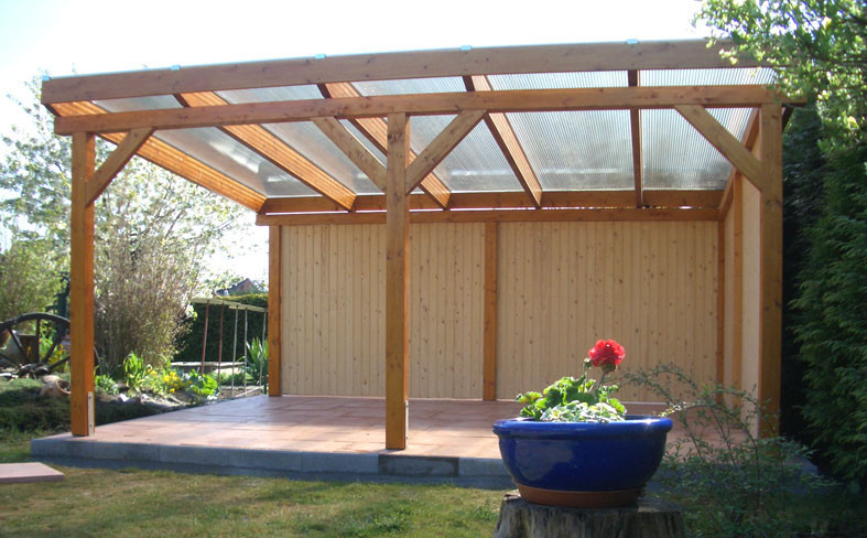 Terrassenüberdachung Holz Freistehend ~ Holzkontor kuhlenfeld carports