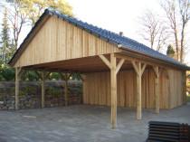 Holzkontor Kuhlenfeld, Satteldach Carport, geänderte Dachkonstruktion