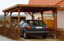 Holzkontor Kuhlenfeld, Carport, Aktionscarport, geringer Pfostenquerschnitt