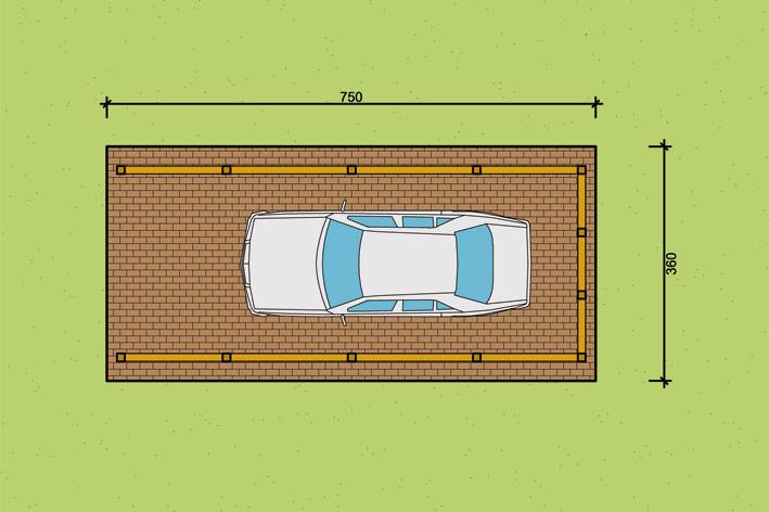 fachwerk einzelcarport mit gertekammer in 360 cm breite
