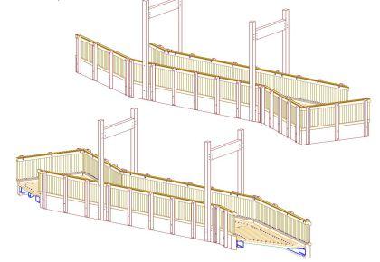 Brücke aus Holz, Brückenbau, Holzbau