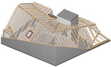 Arbeitsvorbereitung, Planung Dachstuhl, CAD Planung Holzbau