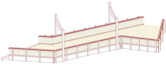 Holzbrücke, CNC-Abbund, Brückenbau, Holzbau