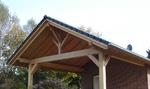Sichbare Dachkonstruktion, gezapft, traditionell, Abbund