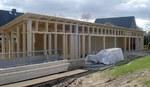 Bogensportanlage, Holzrahmenbau, Nebengebäude