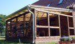 Terrassenüberdachung, CNC Abbund, Bausatz, Holzbau